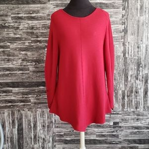 Alfani Rib Sweater Banner Red XLarge New with tags